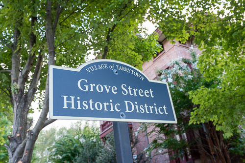 Grove Street sign at historical society.