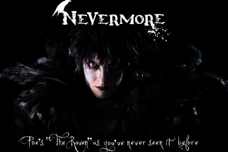 """Nevermore is a circus-theater adaptation of Edgar Allen Poe's """"The Raven."""" In this visually stunning 45 minute show, audiences witness gravity defying storytelling with aerialists all under a circus tent."""