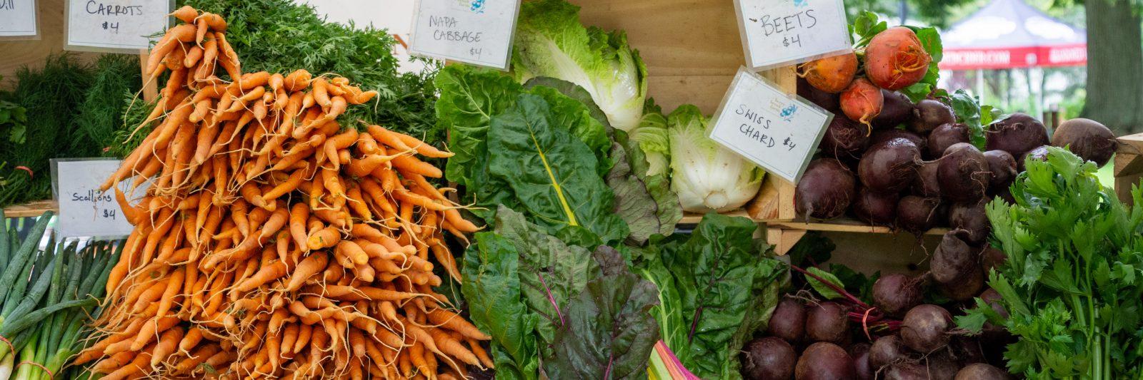 Fresh produce from Berry Brook Farm at Tarrytown and Sleepy Hollow Farmers Market.